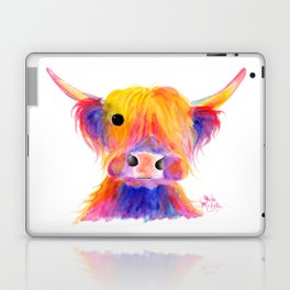 Scottish Highland Cow ' HOOTIE ' by Shirley MacArthur Laptop & iPad Skin