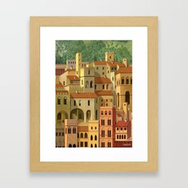 Medieval city Framed Art Print