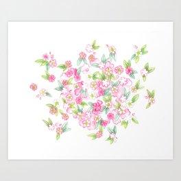 Martha's Flowers Art Print