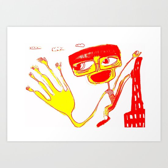 give me 5 Art Print