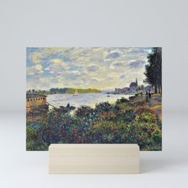 Red Poppies on the banks of the Seine at Argenteuil by Claude Monet Mini Art Print