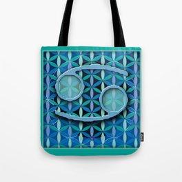 Flower of Life CANCER Astrology Design Tote Bag