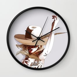 Mirror on the ceiling Wall Clock