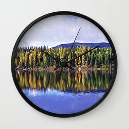 Inez Lake Montana Panorama Wall Clock