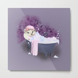 Bubble Bath Joy Metal Print