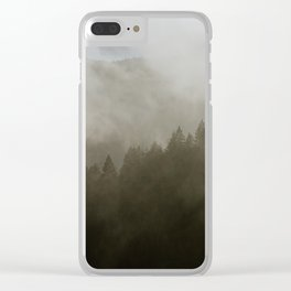 Forest Fog II Clear iPhone Case