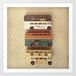 Fab Four Toy Buses Art Print