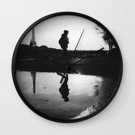 Reflections of Paris Wall Clock