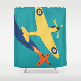 Spitfire: defender of liberty Shower Curtain