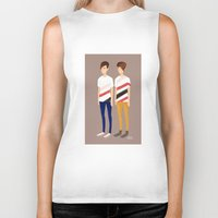 tegan and sara Biker Tanks featuring Tegan and Sara: TnS #1 by Cas.