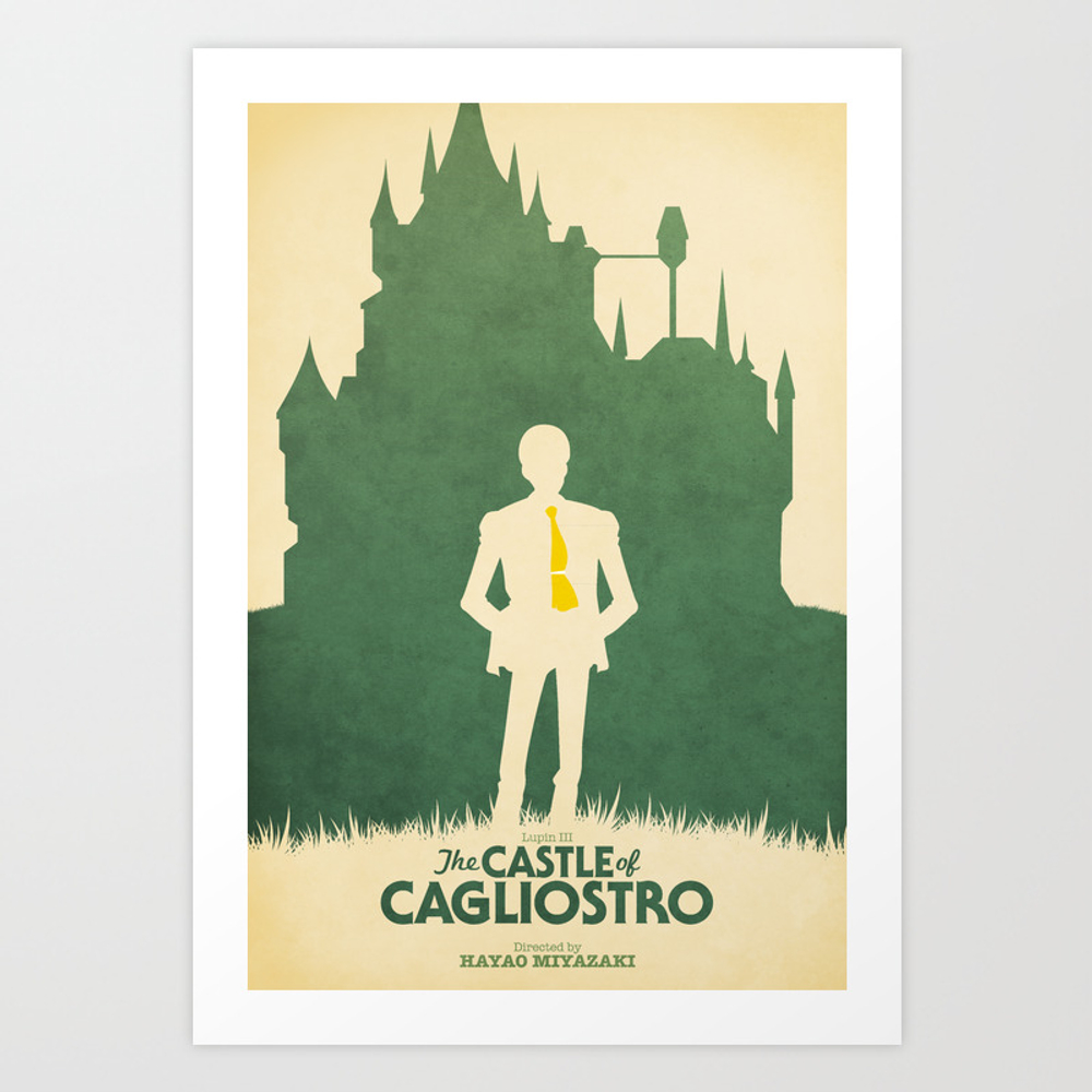 Lupin Iii: The Castle Of Cagliostro Retro Movie Po… Art Print by Benhuber PRN178059