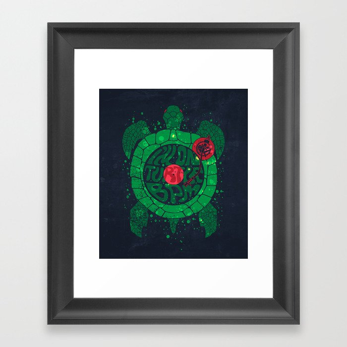 On Turtle BPM Framed Art Print