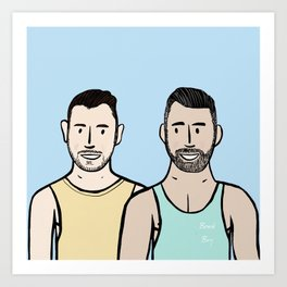 Beard Boy: Jonny & Anthony Art Print