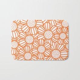 Field of daisies - orange Bath Mat