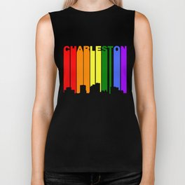 Charleston West Virginia Gay Pride Skyline Biker Tank
