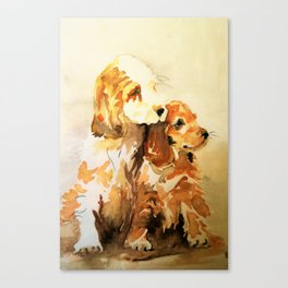 two dogs spaniel Canvas Print