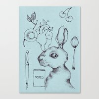 indie Canvas Prints featuring Indie Rabbit by AurorA