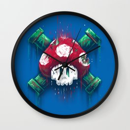 Mushroom Skull Wall Clock