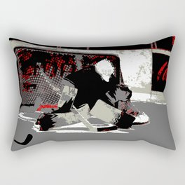 Goal Stopper - Ice Hockey Goalie Rectangular Pillow