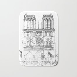 Notre Dame de Paris Bath Mat