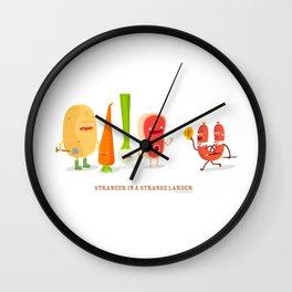 Stranger in a strange larder Wall Clock