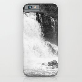 Gooseberry Falls in Black and White iPhone Case