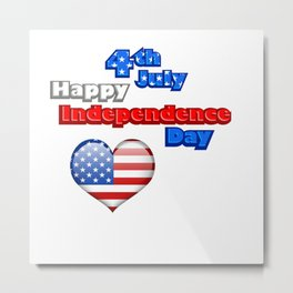 4th of July Independence Day USA Metal Print