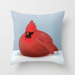 After Christmas cardinal bird Throw Pillow