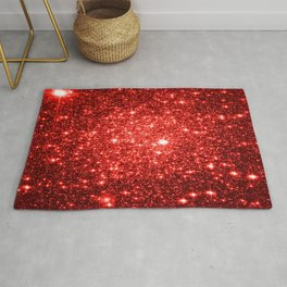 GalaXy : Red Glitter Sparkle Rug