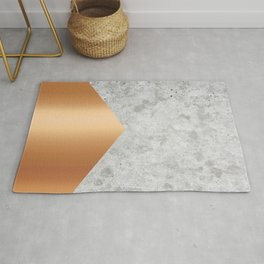Geometric Concrete Arrow Design - Rose Gold #147 Rug