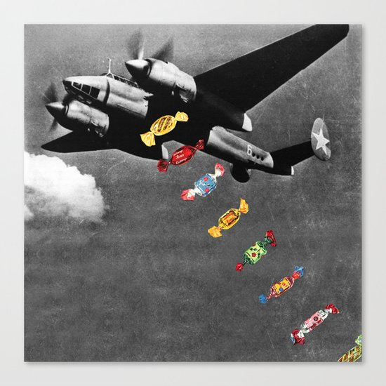 Candy Bomber Canvas Print