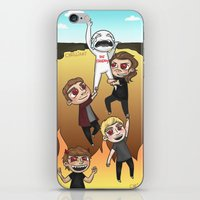 cyrilliart iPhone & iPod Skins featuring Drag Me Down To Hell by Cyrilliart