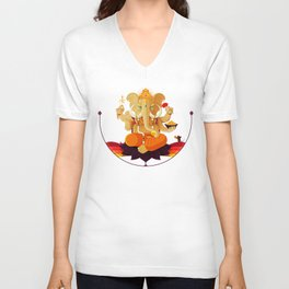 Ganesha | Animal Gods Unisex V-Neck