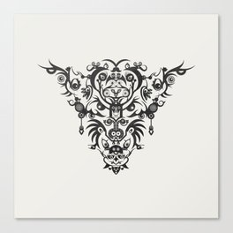 Wild Vision -Black Canvas Print