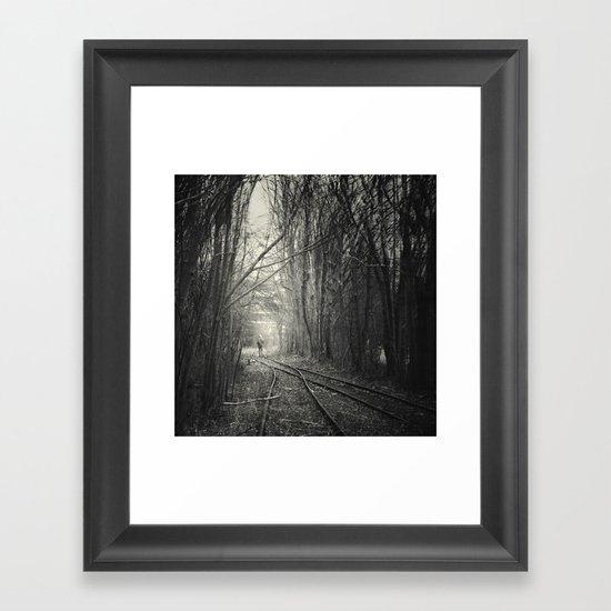 from darkness into light Framed Art Print