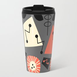Mid-century modern flowers Travel Mug