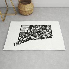 Typographic Connecticut Rug