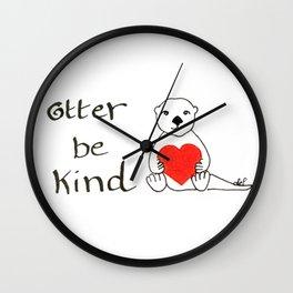 Otter be kind Wall Clock