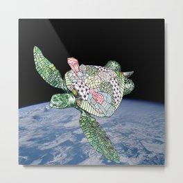 Space Turtle! Metal Print