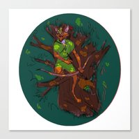 robin hood Canvas Prints featuring Robin Hood by Kaley Bales (polarbales)