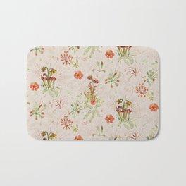 Carnivorous Floral Bath Mat