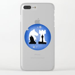 KNIGHT ROOK (Blue) Clear iPhone Case