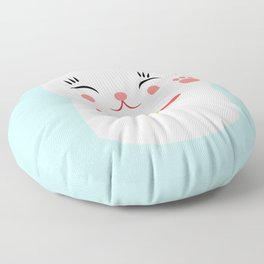 Lucky happy Japanese cat Floor Pillow