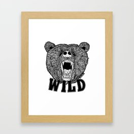 Bear Wild Framed Art Print
