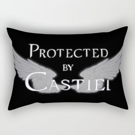 Protected by Castiel White Wings Rectangular Pillow