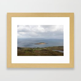 Lone Bright Isle Framed Art Print