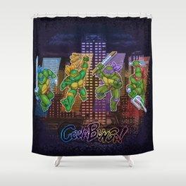 Ninja Teen Turtle Mutants xstat Shower Curtain