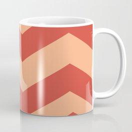 Red Orange Waves Coffee Mug