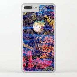 Mister Puffer Fishy Clear iPhone Case