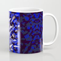 predator Mugs featuring Predator - Blue by Ornaart